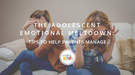anatomy for kids, emotional meltdown, tips for parents